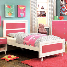 Alivia Pink and White Twin Size Youth Bed