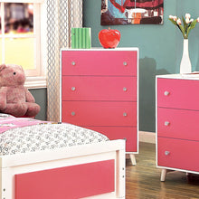 Alivia Pink and White 5-Piece Youth Bedroom Set