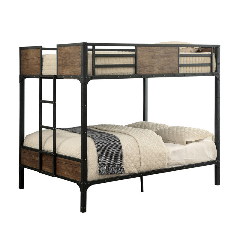 Clapton Industrial Dual Full Size Youth Bunk Bed