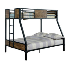 Clapton Industrial Twin over Full Size Youth Bunk Bed