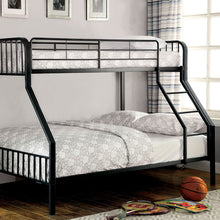 Clement Metal Youth Bunk Bed, Black