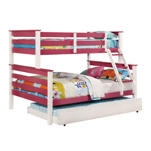 Lorren White Finish Twin & Full Combo Size Bunk Bed
