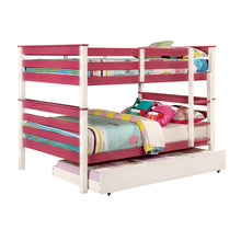 Lorren White Finish Dual Full Size Bunk Bed