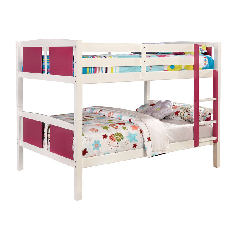 Corral White Finish Dual Full Size Bunk Bed