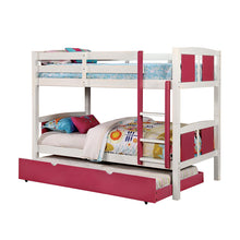 Corral White Finish Dual Twin Size Bunk Bed