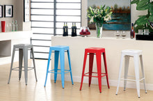 Chios Modern Metal 30-inch Steel Stool, Set of 2