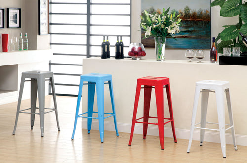 Chios Modern Style Metal Finish 30-inch Steel Stool