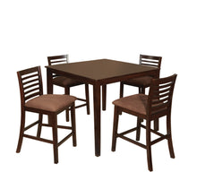 Eaton 5-Piece Espresso Finish Counter Height Dining Table Set