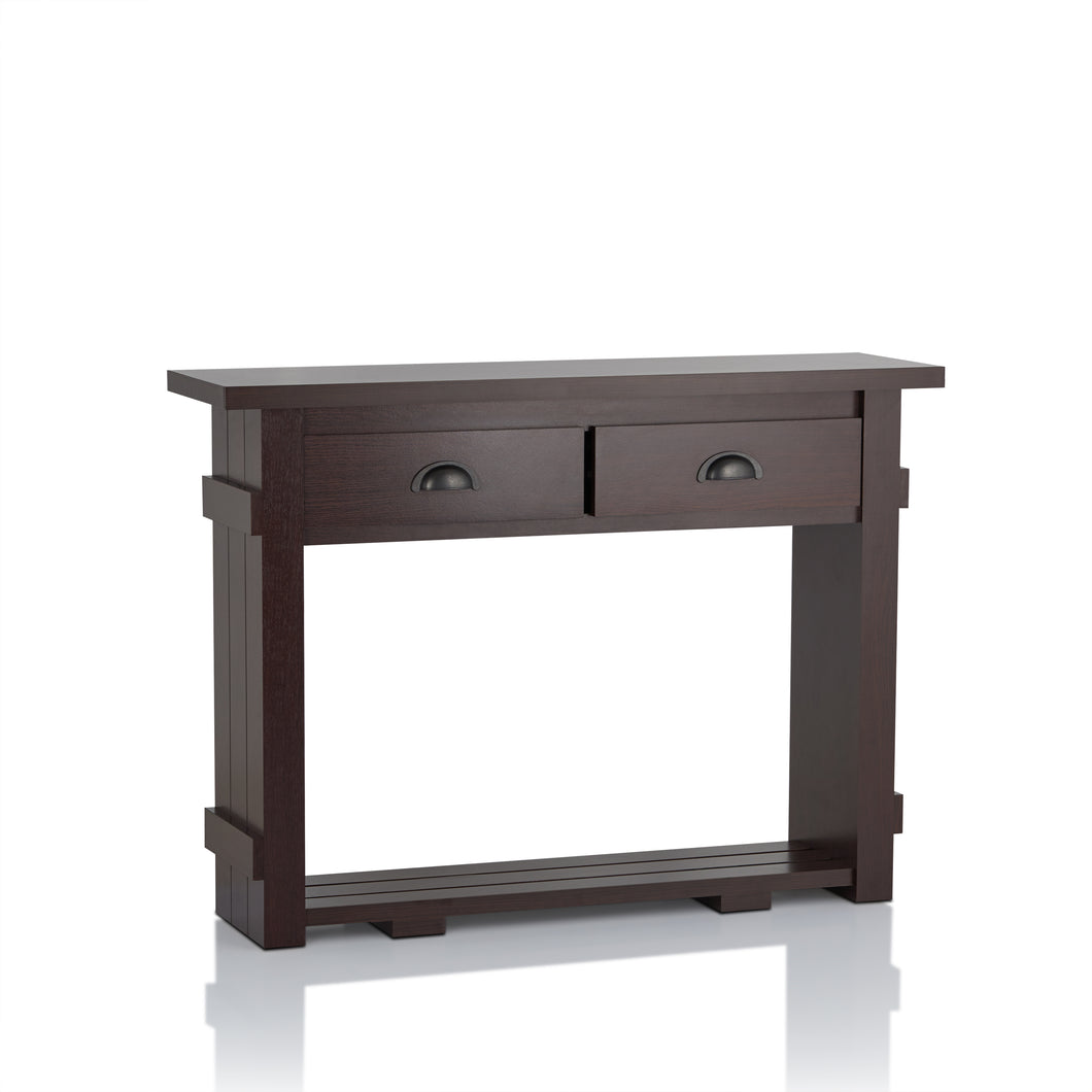 Meade Transitional Walnut Console Table