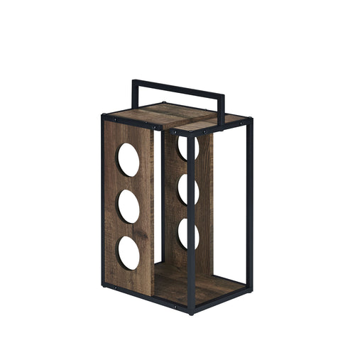 Harvan Industrial Reclaimed Oak Wine Rack