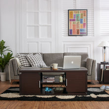 Moreno 2-Way Cabinet Walnut Coffee Table