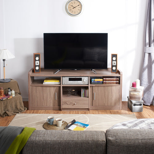 Casabi Multi Storage 63-inch Chestnut TV Stand