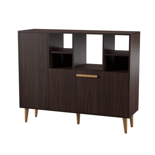 Lindsie Transitional Wenge Shoe Cabinet