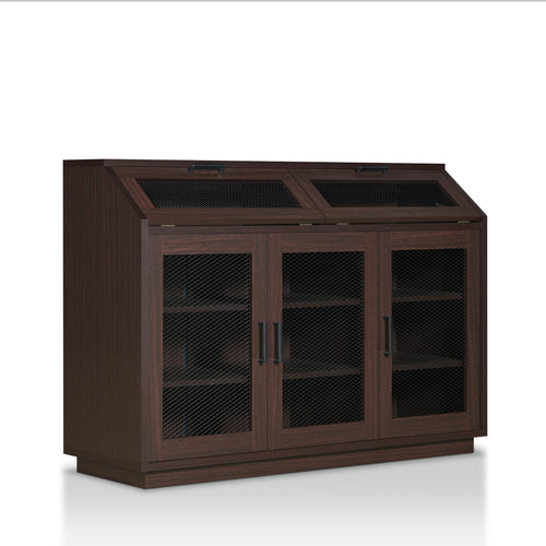 Brissett Transitional Walnut Buffet Cabinet