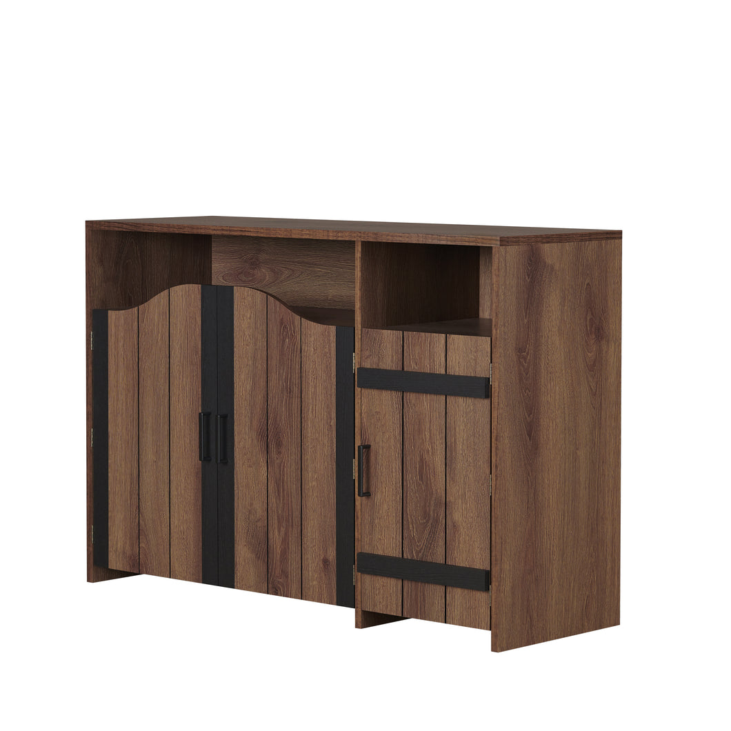Rosarita Rustic Distressed Walnut Buffet