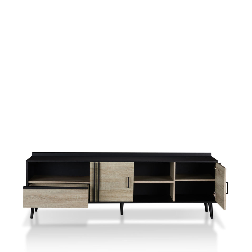 Trubico Mid-Century Modern Black 70-inch TV Stand