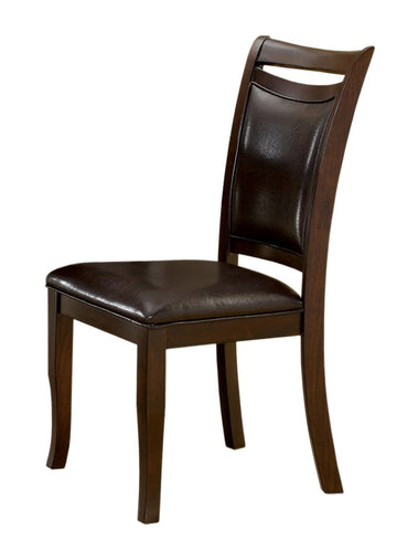 Asher Contemporary Espresso Leatherette Dining Chair (Set of 2)