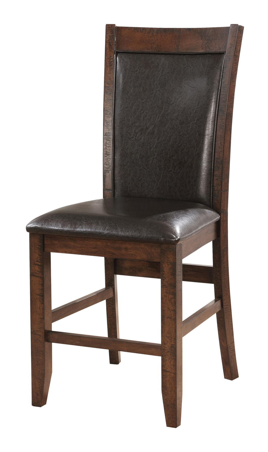 Roche Contemporary Leatherette Brown Cherry Counter Height Chair (Set of 2)