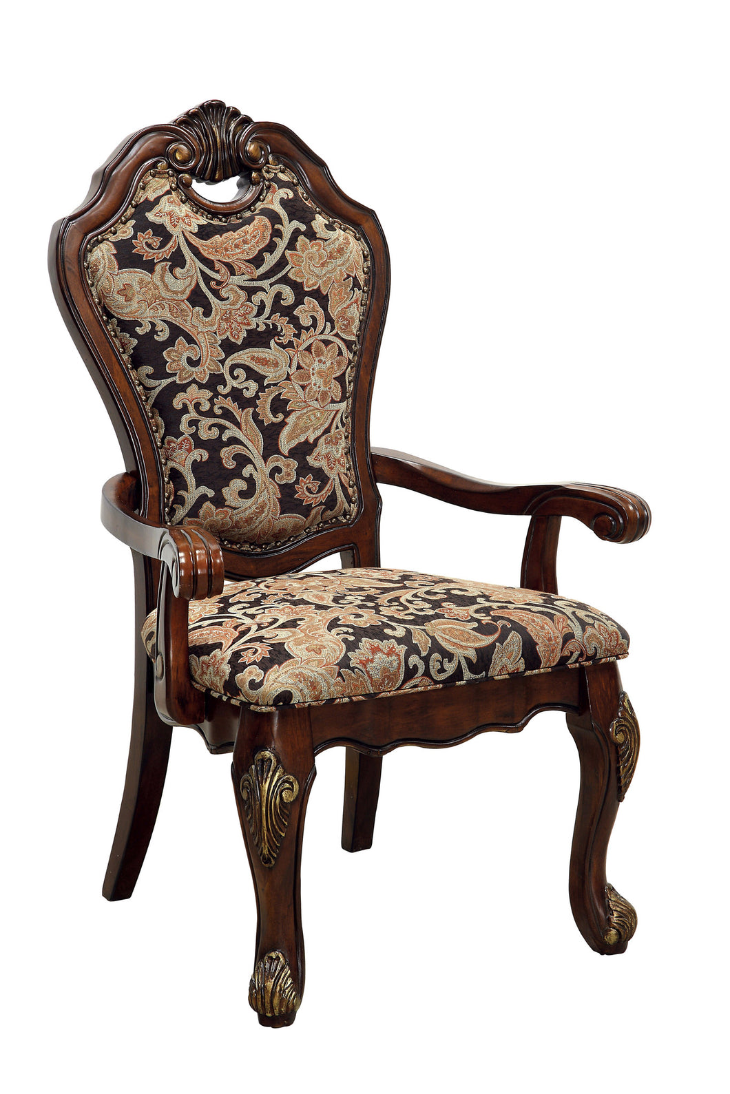 Hershel Formal Floral Dining Arm Chair (Set of 2)