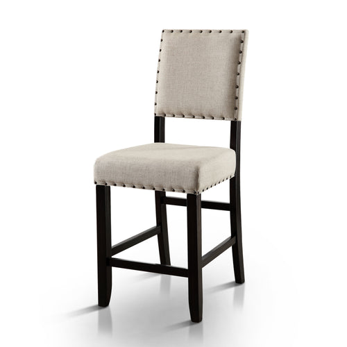 Ambrosia Rustic Nailhead Trim Counter Height Dining Chair, Set of 2