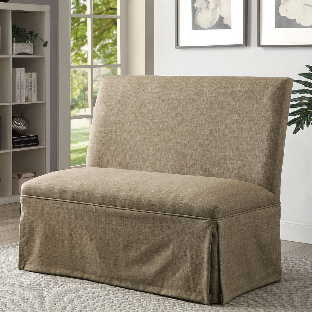 Brittana Transitional Love Seat Bench