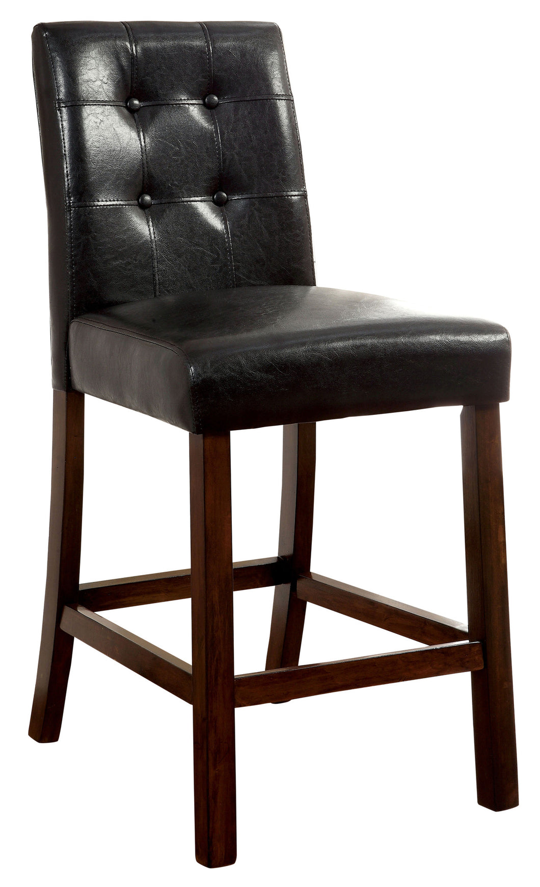 Angorah Contemporary Leatherette Counter Height Brown Cherry Dining Chair (Set of 2)