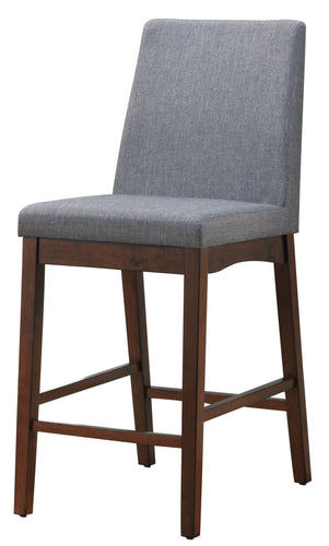 Lula Mid-Century Modern Counter Height Natural Tone Dining Chair (Set of 2)