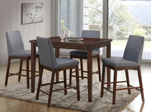Lula Mid-Century Modern Counter Height Natural Tone Dining Table