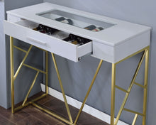 Charisma Contemporary Single Drawer Glass Panel Wine Bar Table