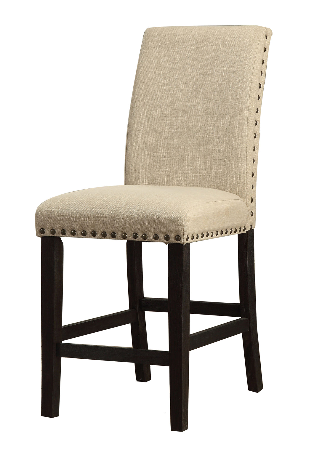 Camille Contemporary Ivory Fabric Counter Height Dining Chair (Set of 2)
