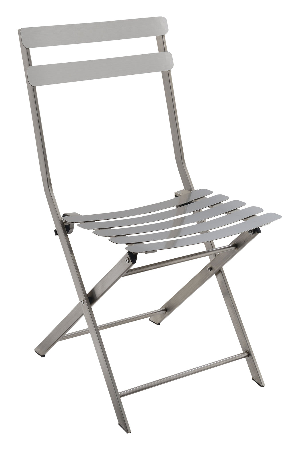 Tennma Industrial Stainless Steel Silver Folding Chair (Set of 2)