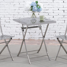 Tennma Industrial Stainless Steel Silver Folding Table