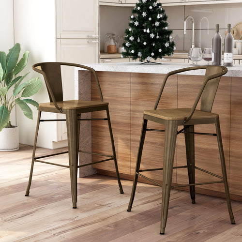 Britton Natural Elm Counter Height Chair (Set of 2)
