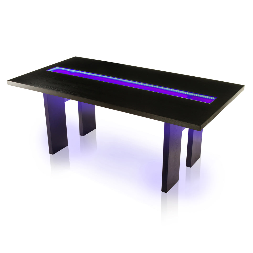 Ashby Modern LED Embellished Dining Table
