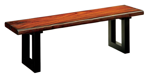 Casimir Contemporary Tobacco Oak Dining Bench