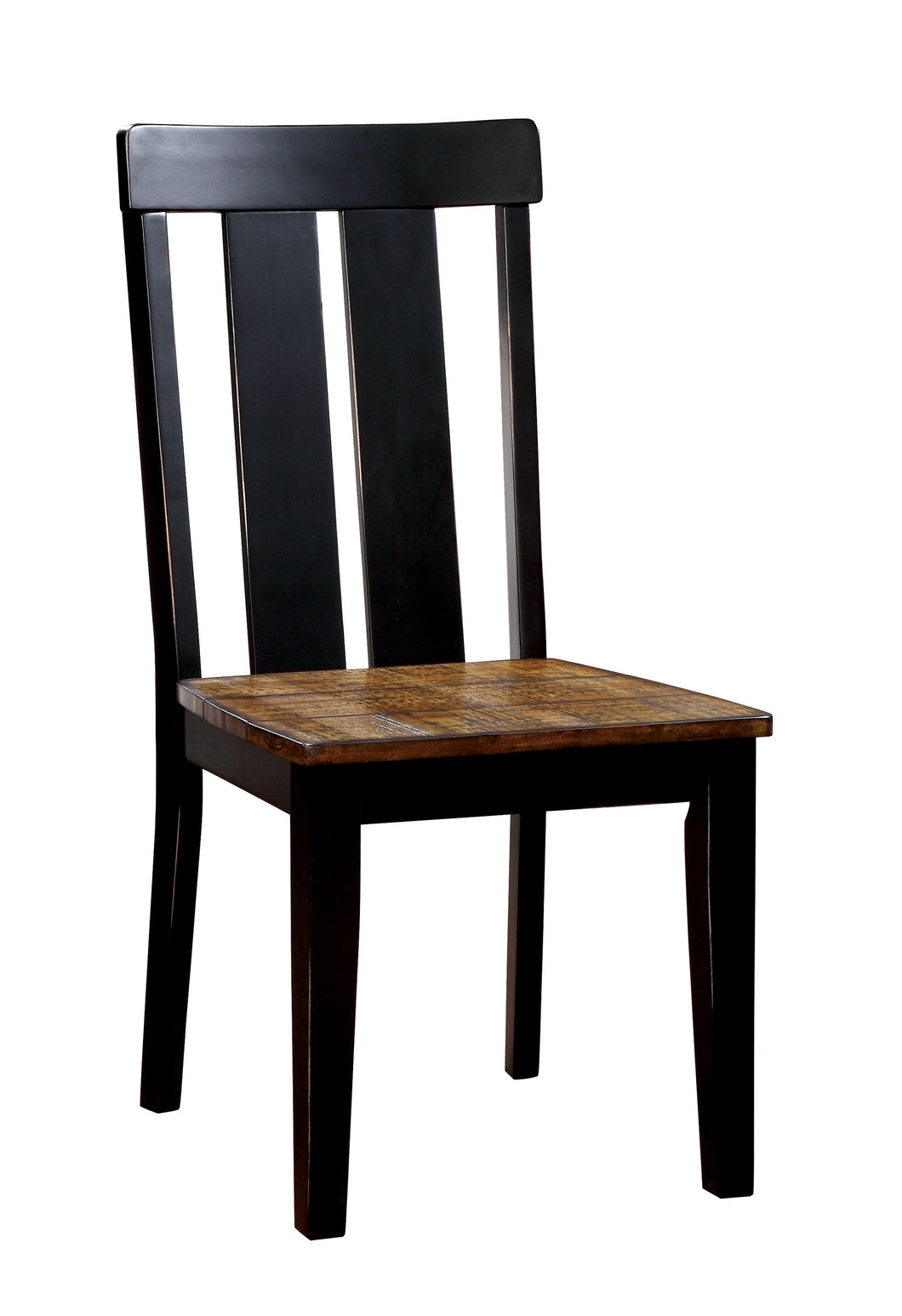 Gillies Farmhouse Two-Tone Antique Oak and Black Dining Chair (Set of 2)