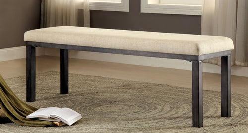 Mala Industrial Beige Dining Bench