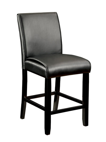 Ephraim Modern Leather Counter Height Dining Chair, Set of 2