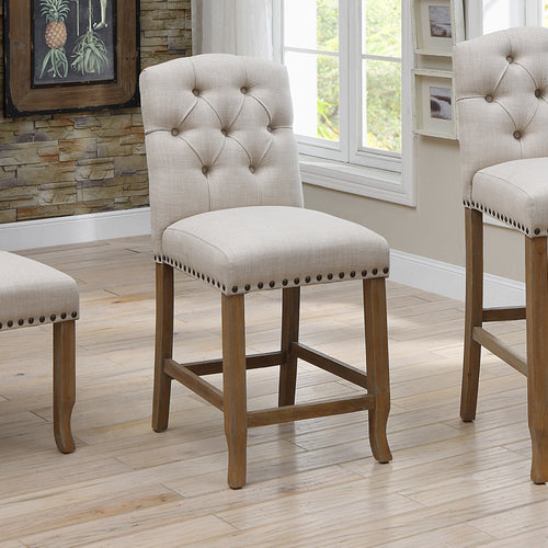 Fridan Rustic Ivory Counter Height Chairs (Set of 2)