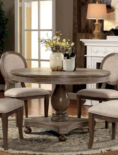 Strayhorn Rustic Dark Oak Round 48-Inch Dining Table
