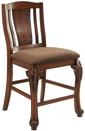 Jessener Traditional Counter Height Cherry Dining Chair (Set of 2)