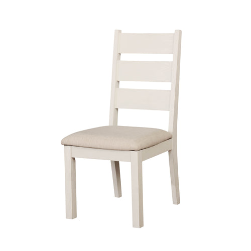 Nichole Transitional Weathered White Side Chairs (Set of 2)