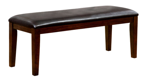 Alliso Transitional Leatherette Brown Cherry Dining Bench