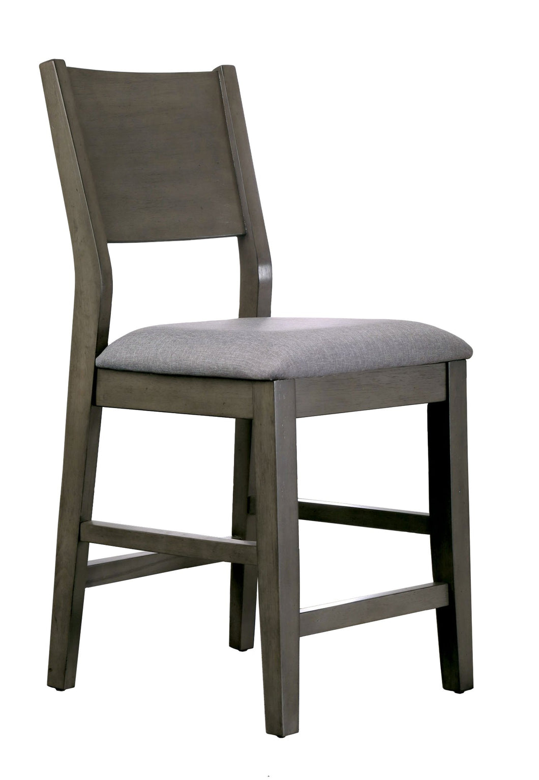 Leroy Contemporary Gray Counter Height Dining Chair (Set of 2)