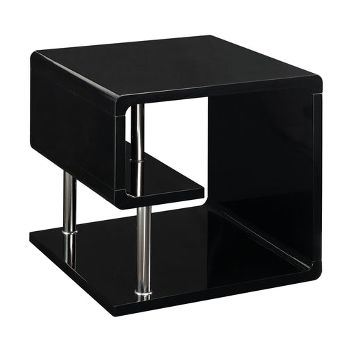 Cleto High Gloss Finish Geometric End Table