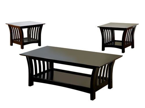 Milford Colonial Style 3-Piece Coffee and End Table Set