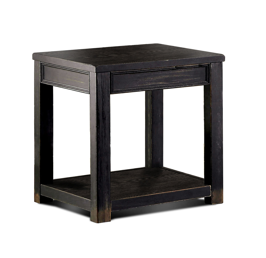 Jemina Antique Black Finish End Table
