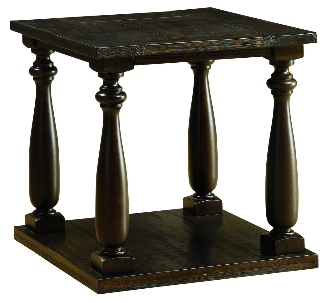 Cofield Transitional Dark Walnut Open Shelf End Table