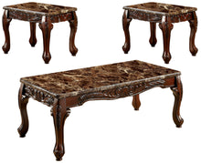 Manina Traditional 3-Piece Brown Coffee Table Set