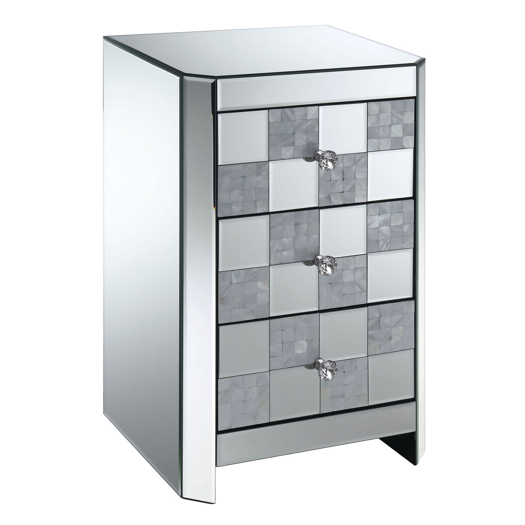 Terrelle Contemporary Silver Side Table
